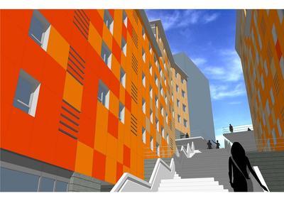 Social housing complex (44 apartments), facilities and Urbanization.