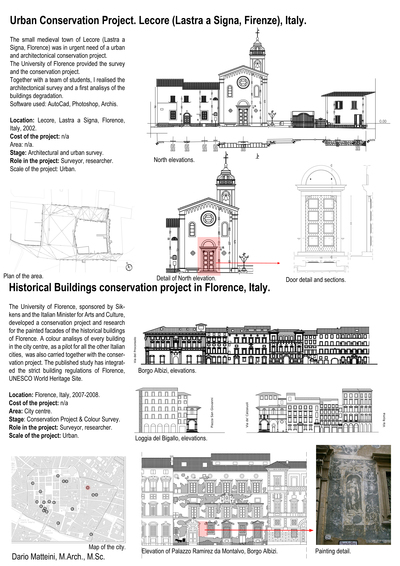 Urban & Historical Buildings Conservation Projects.