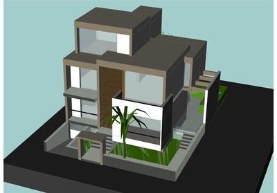 preliminary model for a luxury home in Halandri - Athens, Greece