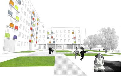 110 social housings in Pino Montano, Seville.