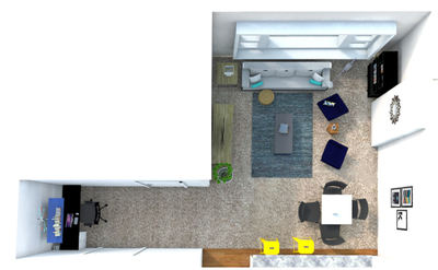 Living Room and Office Nook