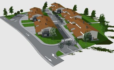 Social housing complex (20 apartments), facilities and Urbanization