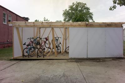 Detroit Youth Hostel Bike Shed
