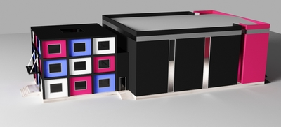 Industrial hall -Rubiq Cube
