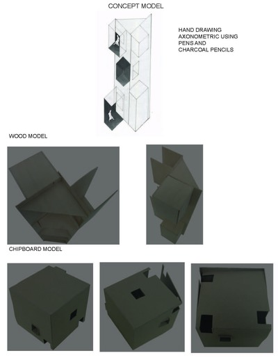 Concept Model-Hand Drawn and Built Models