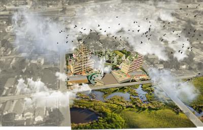 Housing, Plaza, Park & Center