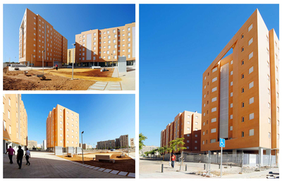 203 social housings in Airport Housing State, Seville.