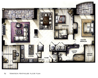Tennyson Penthouse Concept Design