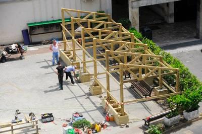 Construction workshop - Built together a new square