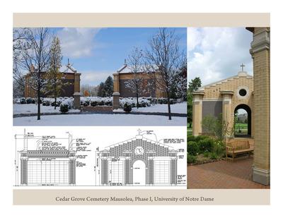 Mausolea at Cedar Grove Cemetery, University of Notre Dame