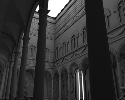 3D Modeling: Courtyard