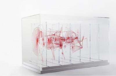 Knots, Red Thread Sculpture