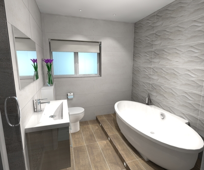 Main Bathroom in a Bungalow