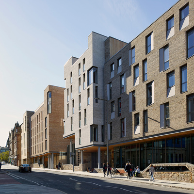 RIAS President's Award for Placemaking—Holyrood North Student Accommodation and Outreach Centre in Edinburgh by jmarchitects, Oberlanders Architects and John C Hope Architects