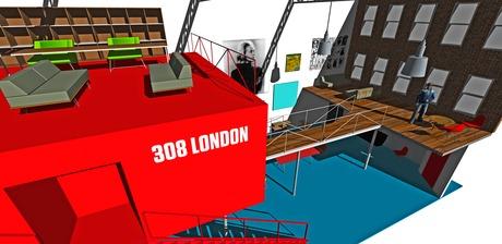 Project for loft conversion in London for the artist E.J. Carpenter
