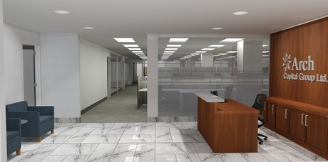 Rendering done for full build out in Bermuda Office