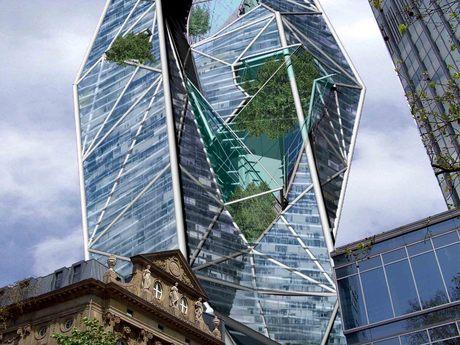Skyscraper with Vertical Park Core