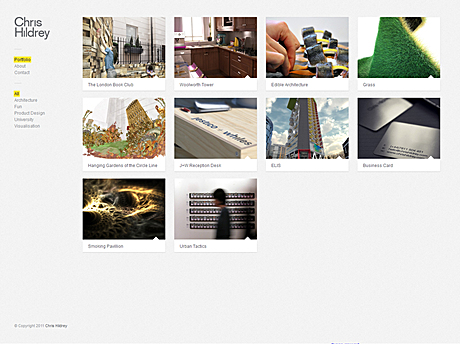 Finally finished getting my portfolio website up. Mostly post-uni work so far, but it's a start...