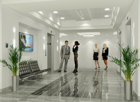Office Building Elevator Lobby |Fort Lauderdale, FL