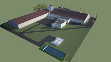 concept design images for a processing plant