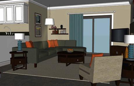 Interior design work