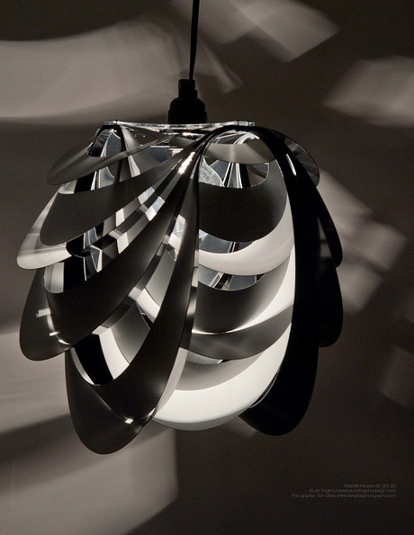 The Kinema pendant is featured in the premier issue of deVour Book, along side works from Zaha Hadid and Marcel Wanders.
