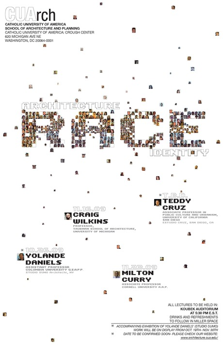 Architecture - Race - Identity CUArch Lecture Series Poster