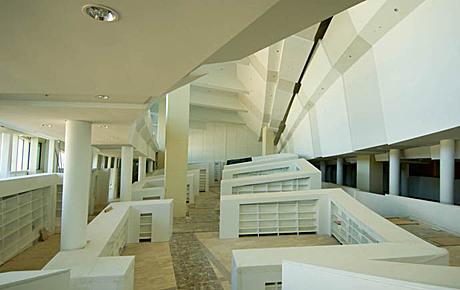 Cidade da Cultura de Galicia, Spain (library interior)