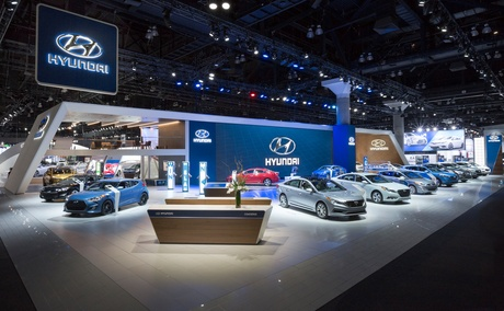 Launched the new new Hyundia auto show space at 2015 LA Auto Show