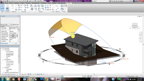 learning revit and sun study tools
