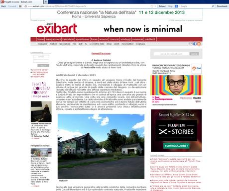 Prattsville Art Center project, New York, in EXIBART