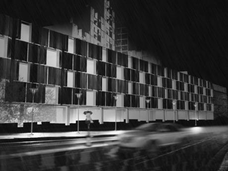 Newark Edge Housing - Exterior Rendering - 3 Year Studio - NJIT