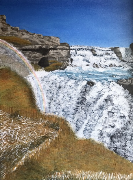 Dreaming of Iceland and Gullfoss - just finished!