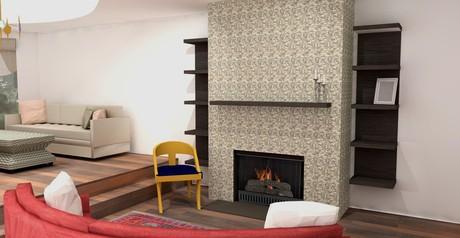 Freelance residential drawings done for Philadelphia Designer