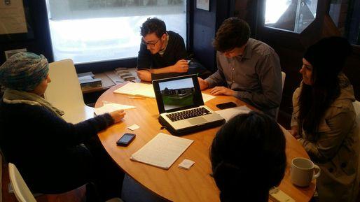 Preparing for the Kaumatua Hui at an SGA meeting room