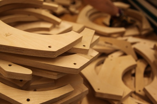 Plywood slices