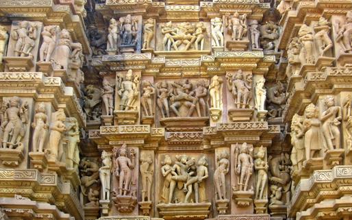 The infamous effigies of Khajuraho