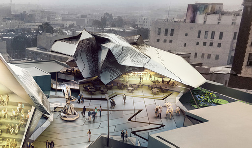 """Take a peek at Tom Wiscombe's """"underground"""" Old Bank District Museum scheme for L.A."""