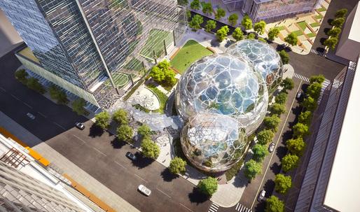 NBBJ's biosphere design for Amazon Seattle HQ becomes even more organic