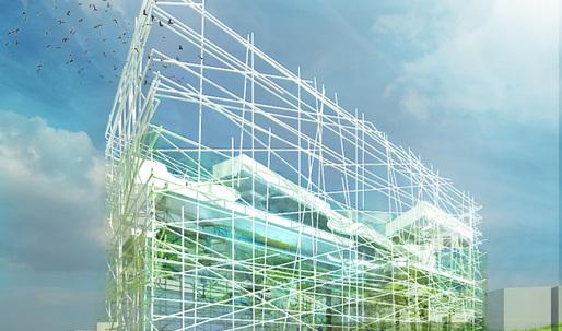 Taichung City Cultural Center Entry by OXO Architects + Nicolas Laisné Architecte Urbaniste