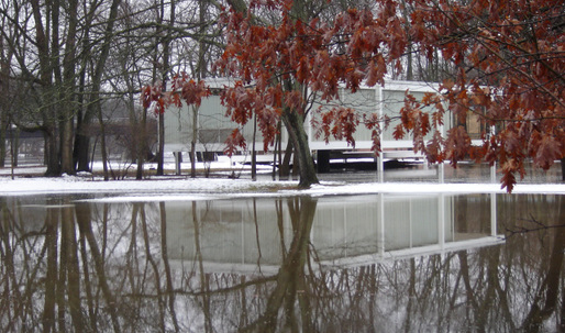 Fox River Flash Flooding Surrounds the Farnsworth House