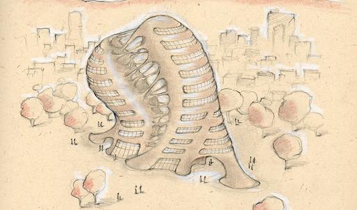 "Imagining the popular Elena Ferrante novel ""My Brilliant Friend"" as a building"