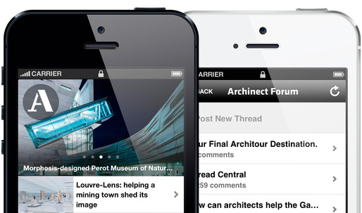 The Archinect iPhone app is updated with Discussion Forum, Job searching, and more!