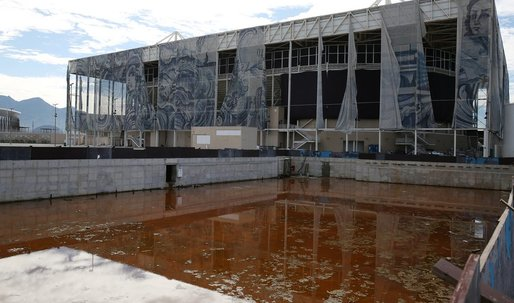 Take a look at the already-dilapidated facilities of the Rio Olympics