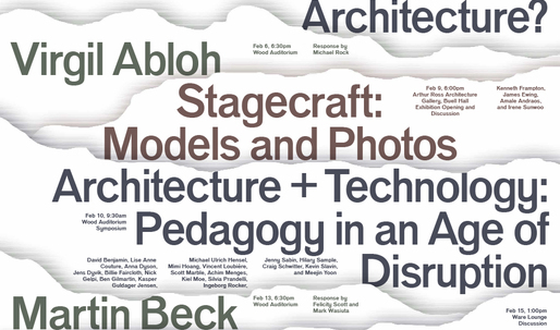 Get Lectured: Columbia GSAPP, Spring '17
