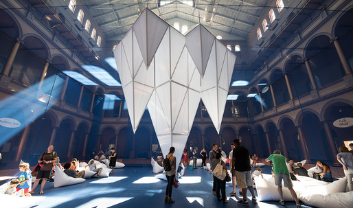 Dive into James Corner's field of ICEBERGS, now at the National Building Museum