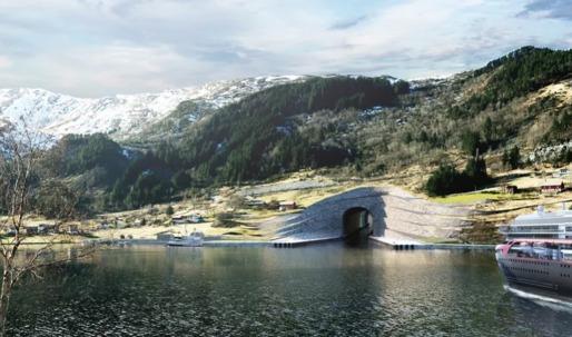 "Snøhetta designs a ""boat tunnel"" in Norway"