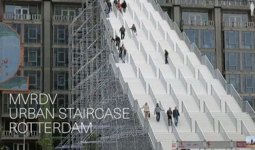 "A video tour of MVRDV's ""The Stairs"""