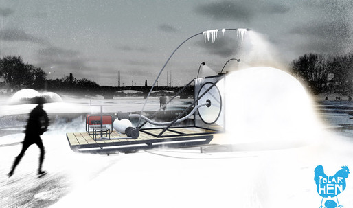 "Warming Huts Competition: ""POLAR HEN"" by mjölk architekti"