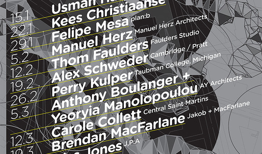 Get Lectured: The Bartlett, Spring '14